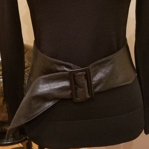 Wide Soft Leather Waist Belt Italy